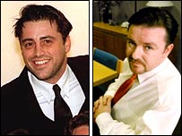 Matt LeBlanc and Ricky Gervais
