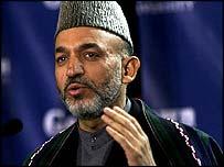 Interim Afghanistan leader Hamid Karzai