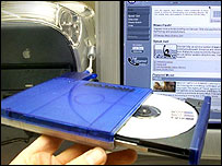 Computer and a CD