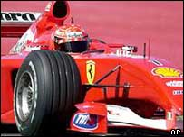 Michael Schumacher of Ferrari's F1 team
