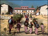 Schoolchildren in Bhutan
