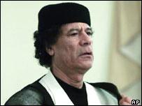 Libya's leader Colonel Gaddafi