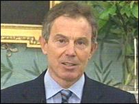 British Prime Minister Tony Blair