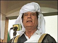 Muamar Gadafi, l?der libio