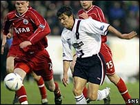 Nacho Novo in action at Pittodrie