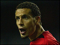 Rio Ferdinand played for Manchester United against Tottenham on Sunday