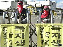 Protesting Ssangyong workers