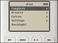 Apple iPod close-up, Apple