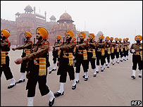 Sikh regiment at Red Fort hand-over