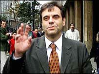 Vojislav Kostunica, leader of Democratic Party of Serbia