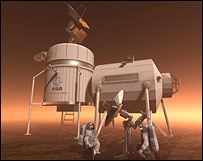 Artist's impression of a Mars base, Esa
