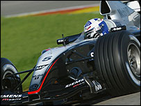 David Coulthard at the wheel of the new McLaren-Mercedes MP4-19 at Valencia