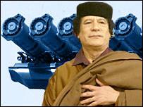 Muamar Gadafi, presidente de Libia