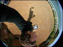 Panoramic kite photo, Scott Haefner