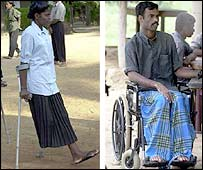 Disabled fighters at the Tigers camp in northern Sri Lanka