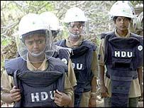 Sri Lankan de-mining unit