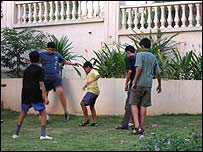 Children playing at Raheja Vihar colony in Powai