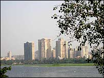 High rise apartments in Powai