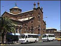 Main cathedral in the centre of Asmara