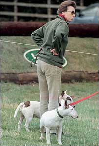 Princess Anne and her dogs