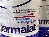 A bottle of Parmalat milk