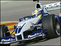 Ralf Schumacher in testing in Valencia