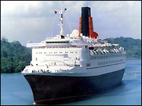 The QE2 cruise liner