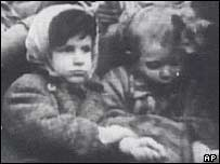 Jewish girl in a concentration camp