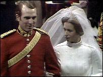 Princess Anne marries Captain Mark Phillips