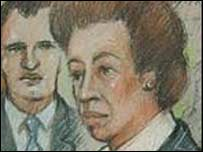 Court artist's impression of Princess Anne 