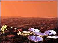 Artists' impression of the Beagle on Mars