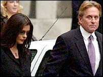 Catherine Zeta Jones and her husband Michael Douglas