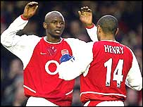 Patrick Vieira and Thierry Henry