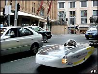 The hydrogen and solar powered car