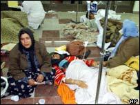 Survivors of the Iranian earthquake