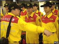 Taiwanese rescue workers