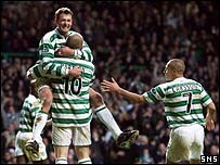 Chris Sutton celebrates