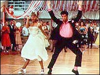 Scene from the film version of Grease