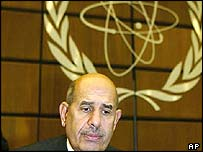 File photo of Mohamed ElBaradei at the IAEA