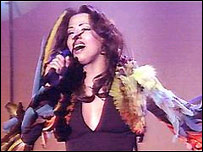 Dana International, cantante transexual israelí.
