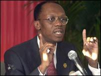 Jean-Bertrand Aristide, presidente de Haití.