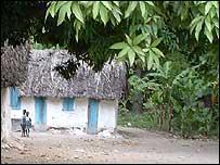 Casa pobre en Haití.            Foto: Nick Caistor.