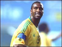 Radebe in Bafana Bafana colours