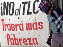Protesta contra el TLC