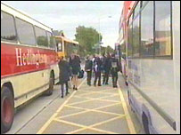 Pupils and buses
