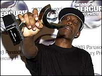 Dizzee Rascal with Mercury Music Prize