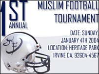 Advertisement for the Muslim Football Tournament