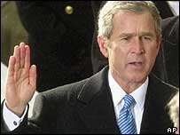 George Bush at inaugration