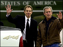 Tony Blair with George W Bush