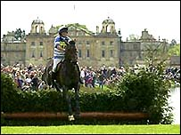 Action from the Badminton horse trials